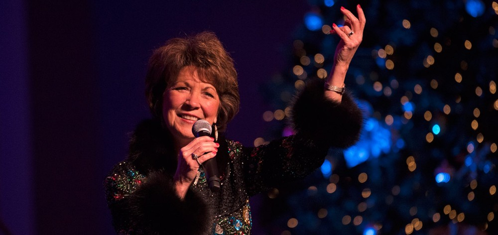 Nancy James, Emmy Award-winning performer, returns to the Music Hall ballroom by popular demand.