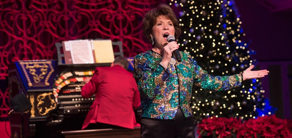 The amazing Nancy James performed favorite songs from the Holiday songbook.