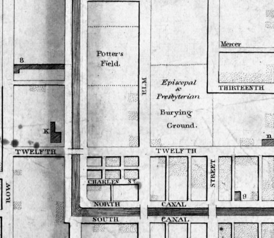 Map of Elm Street & area - 1830