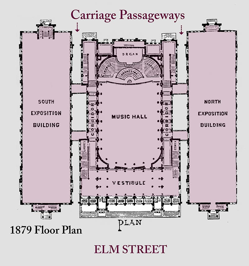 Music Hall Floor Plan 1879