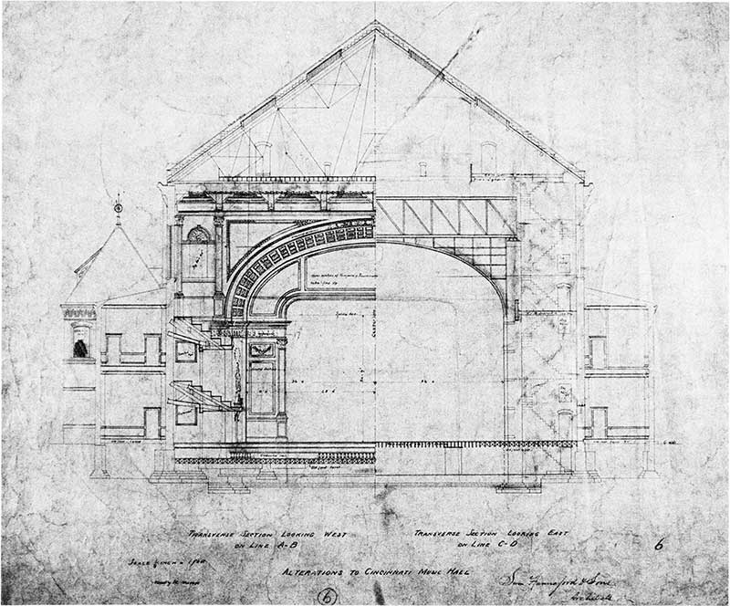 Plans for proscenium