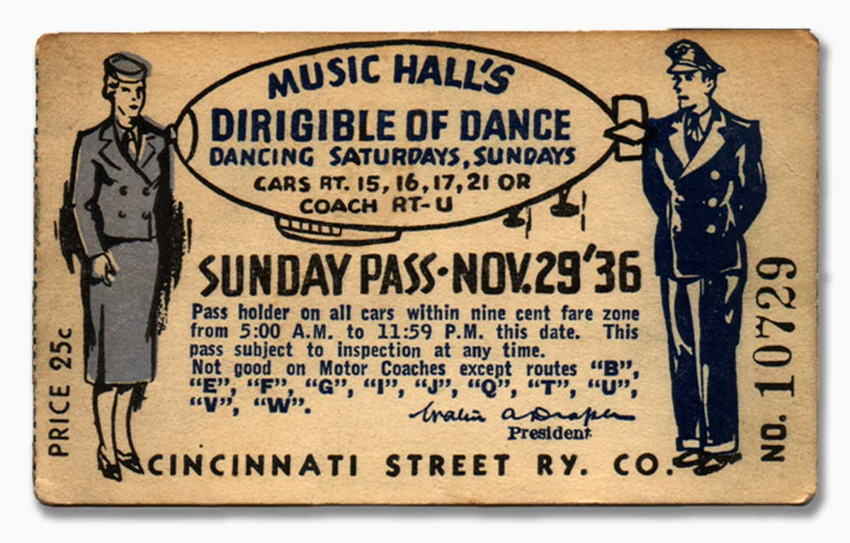 The Ballroom's theme was Dirigible of Dance from October '36-September '37