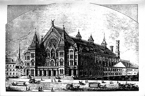 Early Sketch of Music Hall