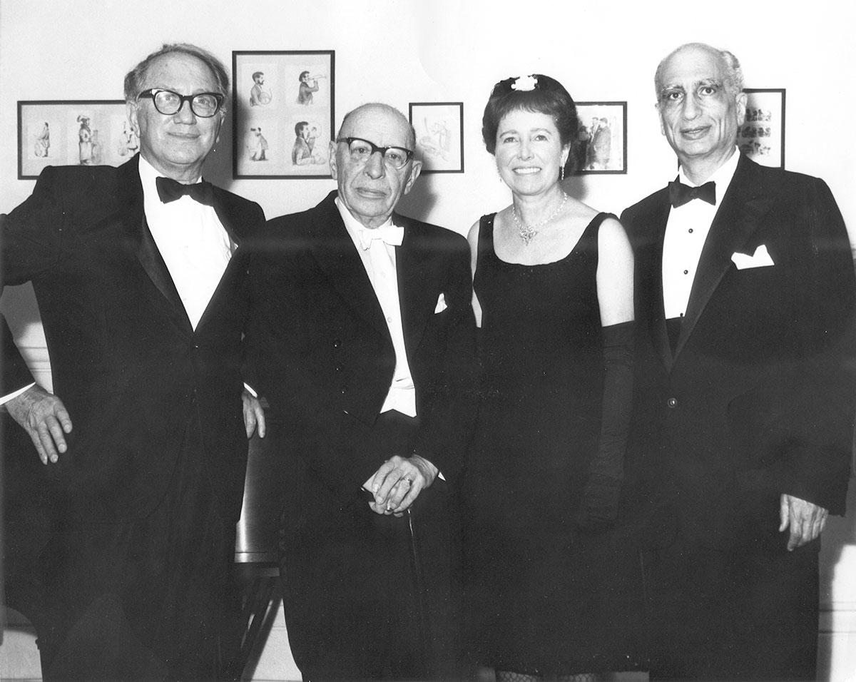 Left to right: Ralph Corbett, Igor Stravinsky, Patricia Corbett, Max Rudolf