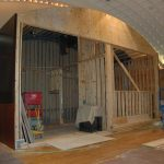 The chamber that will hold the pipes and mechanical workings of the Mighty Wurlitzer
