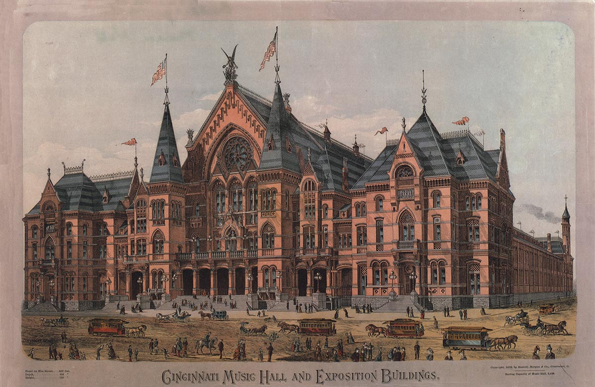Cincinnati Music Hall and Exposition Buildings, 1879