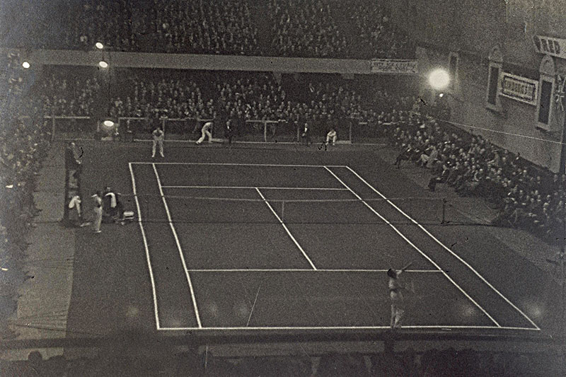 Tennis match, North Hall Sports Arena