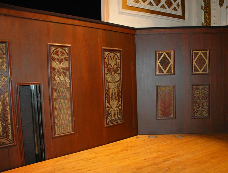 Art-carved organ panels in Music Hall Orchestra Pit