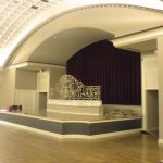 The west wall of the ballroom, before construction began.
