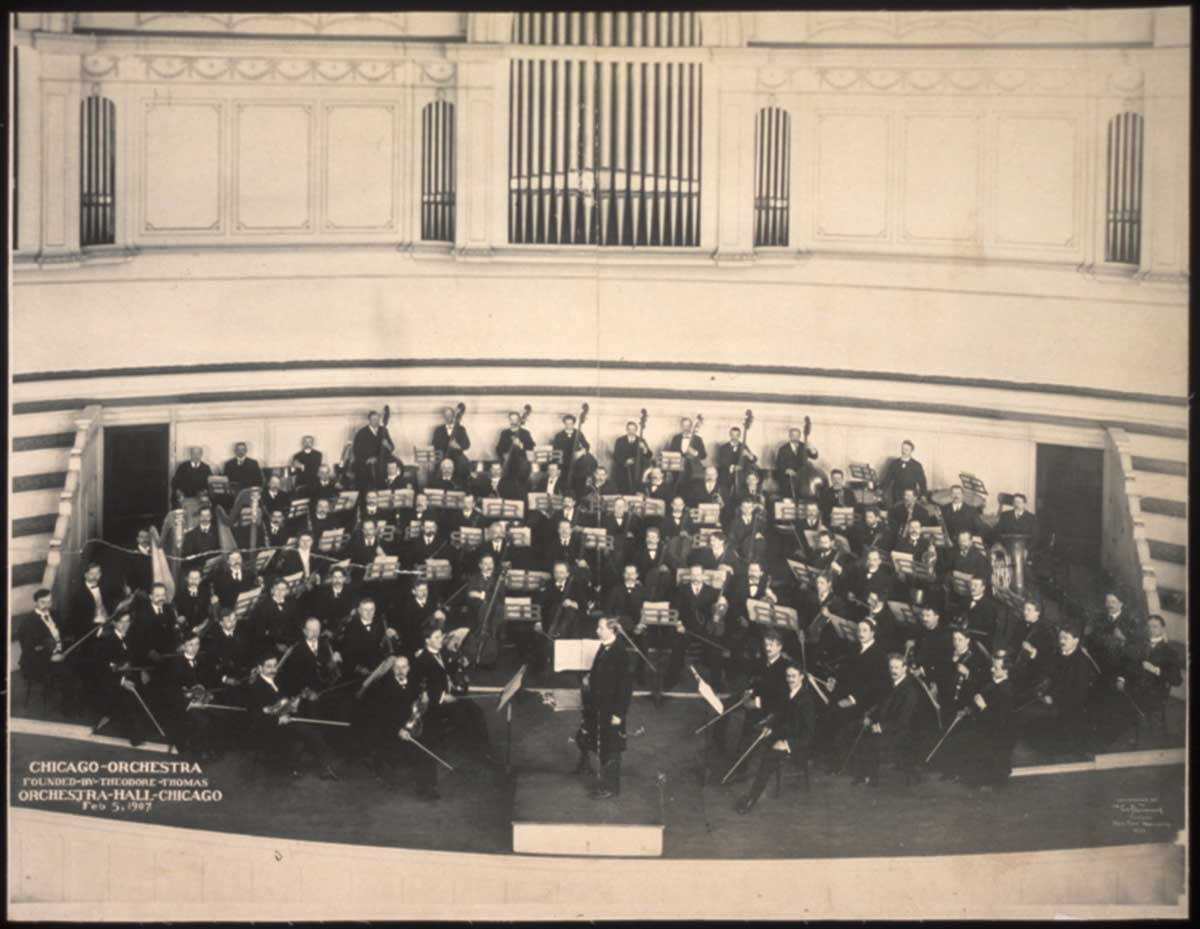 Maestro Thomas with the Chicago Orchestra