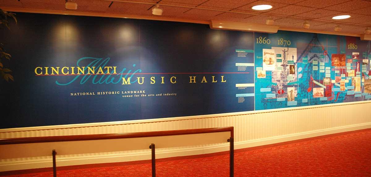Timeline in Music Hall, pre-2016-2017 renovation
