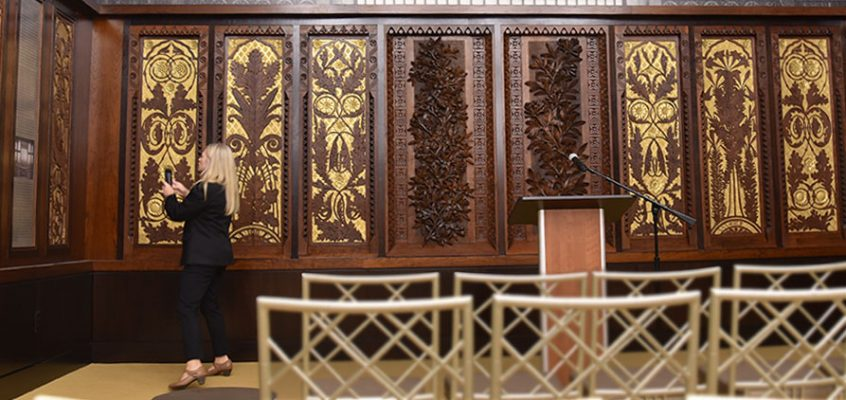 art-carved panels display