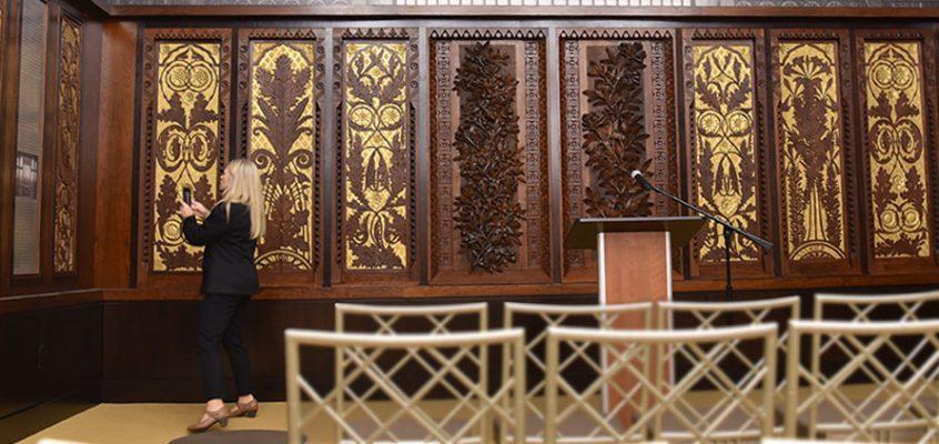 art-carved panels display