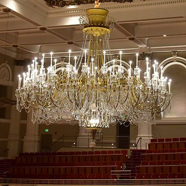 The Chandelier in Springer Auditorium, Music Hall