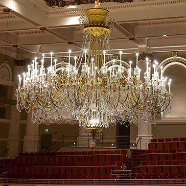 The Chandelier in Springer Auditorium, Music Hall