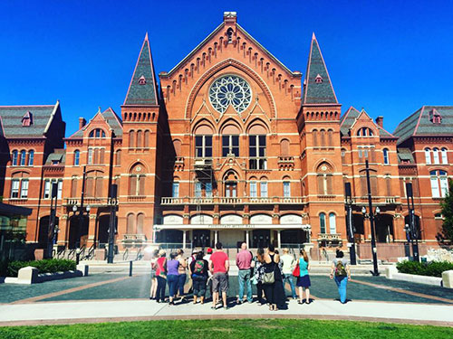 Outdoor Tour of Music Hall