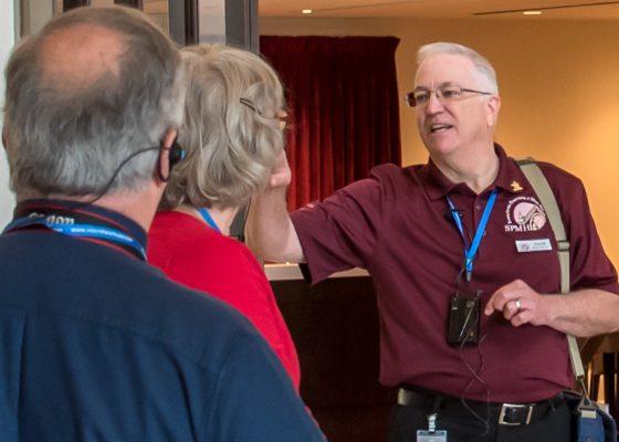 SPMH Volunteer David Lane with tour guests