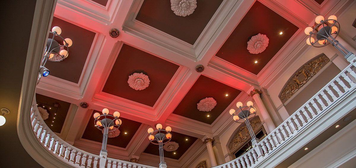 Ceiling of the Music Hall foyer