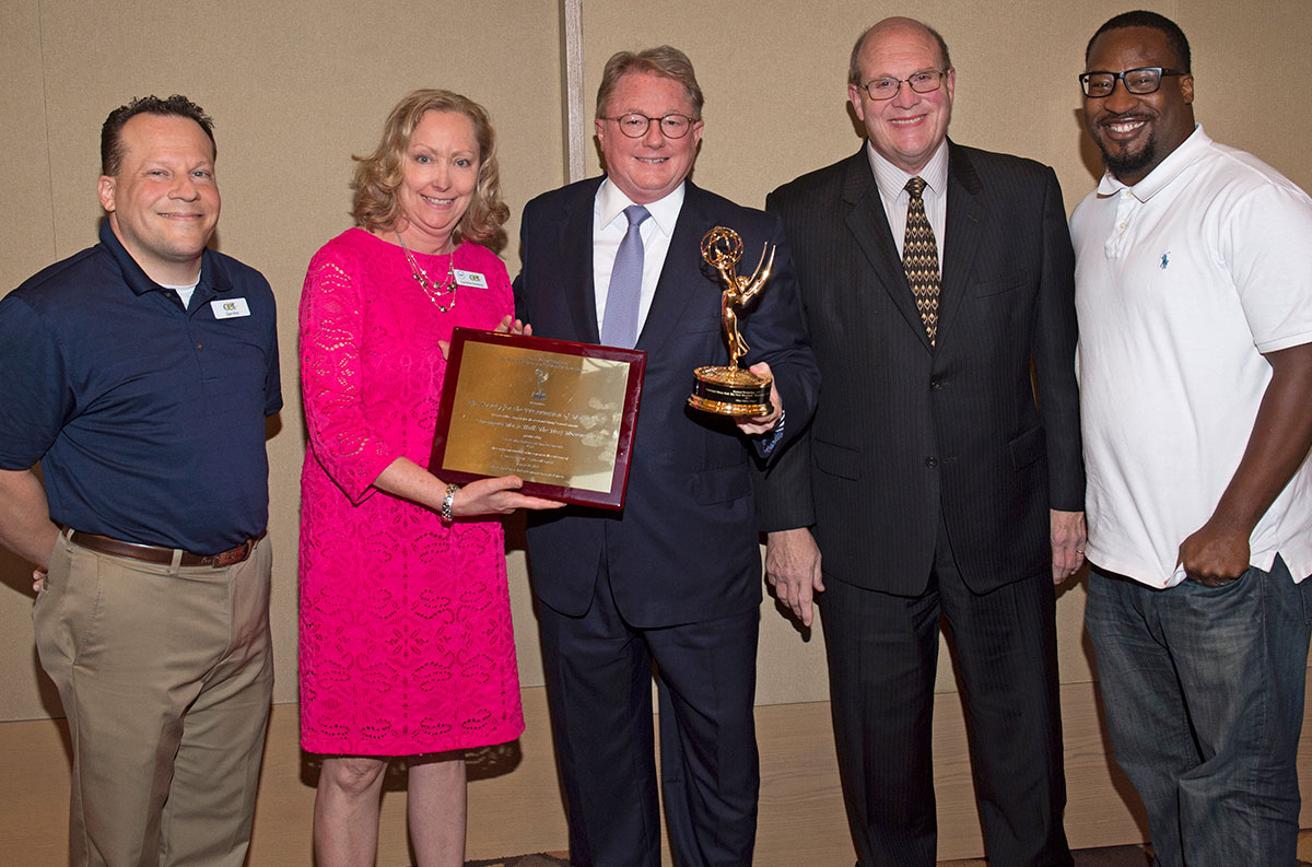 CET team presents Emmy to SPMH