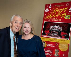 Don Siekmann, originator of the Wurlitzer concerts, with Holly Brians Ragusa, new concert producer