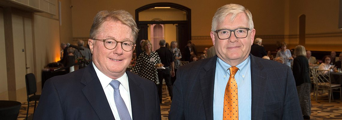 SPMH President Peter Koenig with CSO President Jonathan Martin