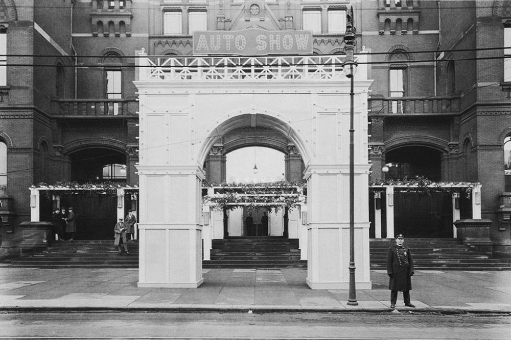 Music Hall Elm Street Entrance 1923 Auto Show