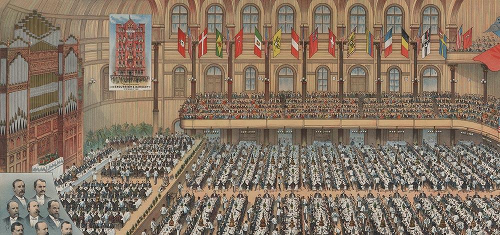 The Grand Banquet in Music Hall to Inaugurate the Cincinnati Southern Railroad, March 1880