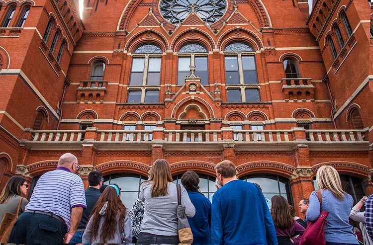 Outdoor Tour of historic Cincinnati Music Hall