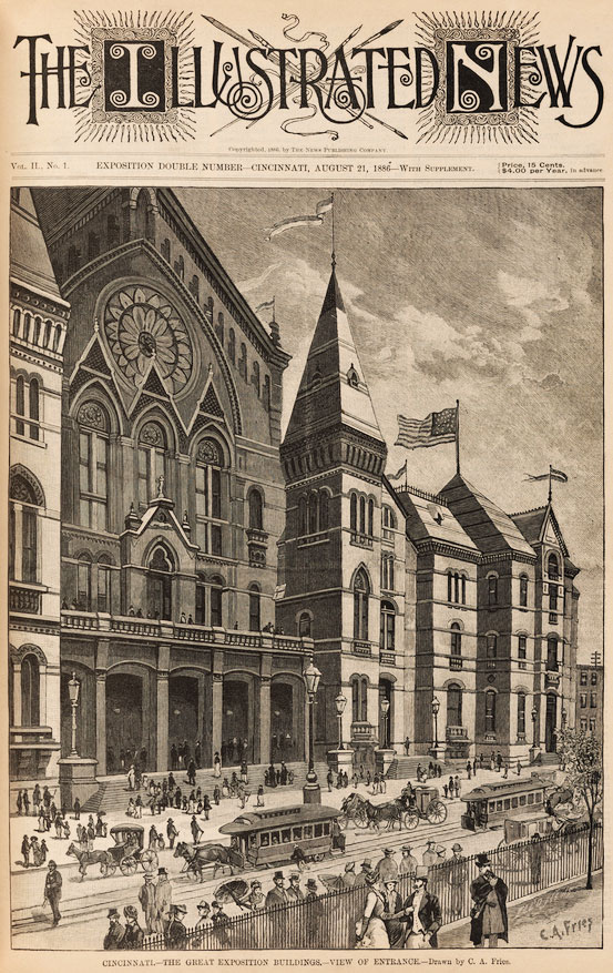 Cover of Exposition edition of The Illustrated News, August 21, 1886