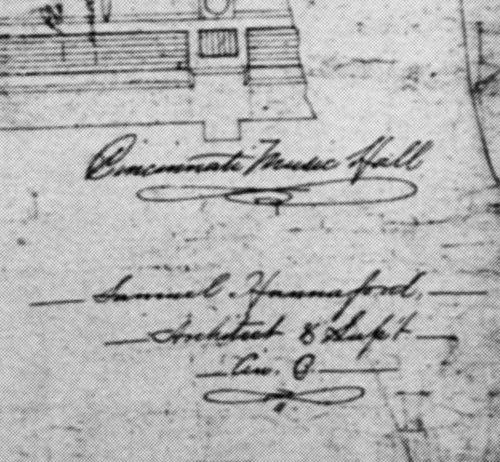 Hannaford's signature from a Music Hall architectural drawing, 1875