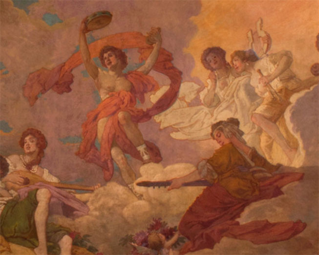Depicting Music in the Allegory of the Arts mural