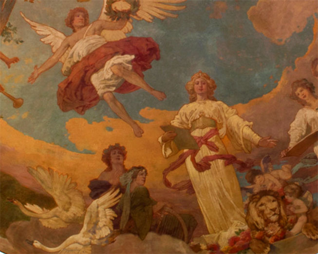 Scene in the Allegory of the Arts mural