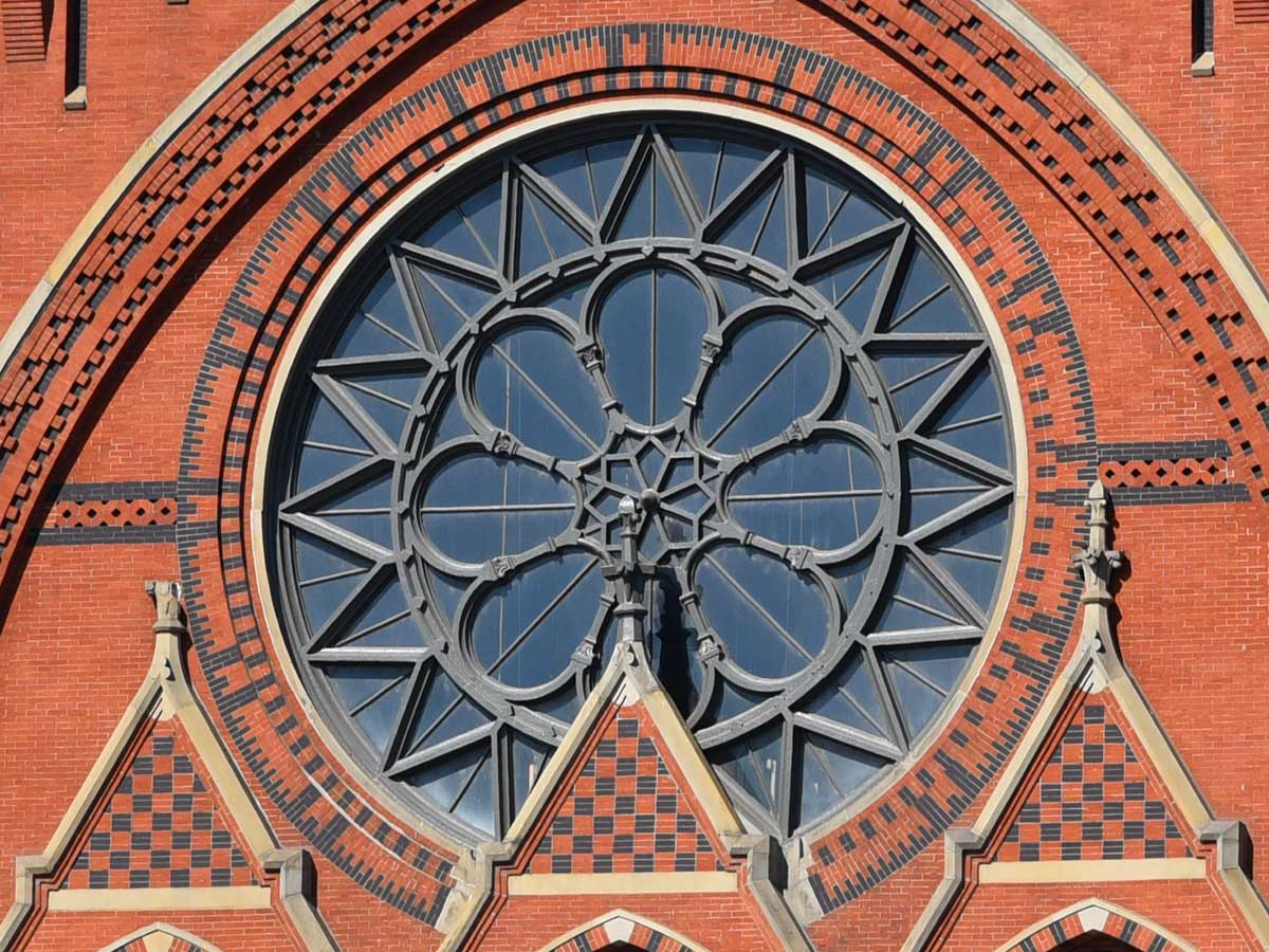 Music Hall's Rose Window today
