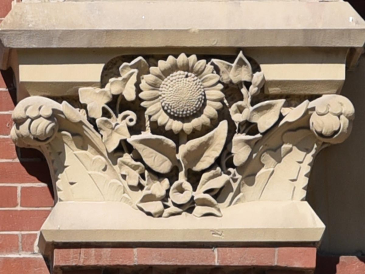 Carving representing the south or Horticulture wing