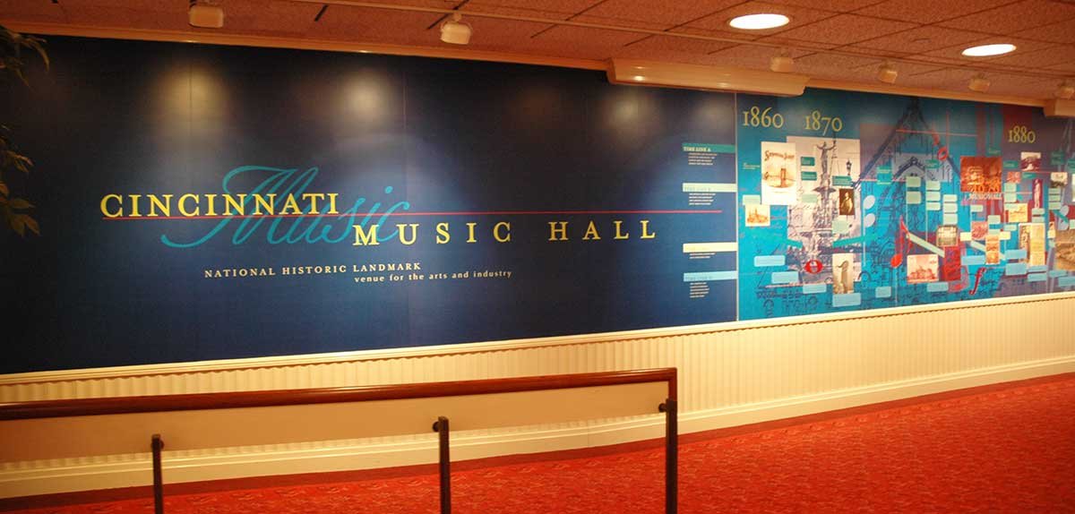 Timeline in Music Hall, pre-2016-2017 renovation