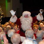 Santa visits the Wurlitzer concert