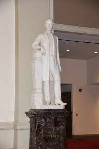 Statue of Reuben Springer in Music Hall