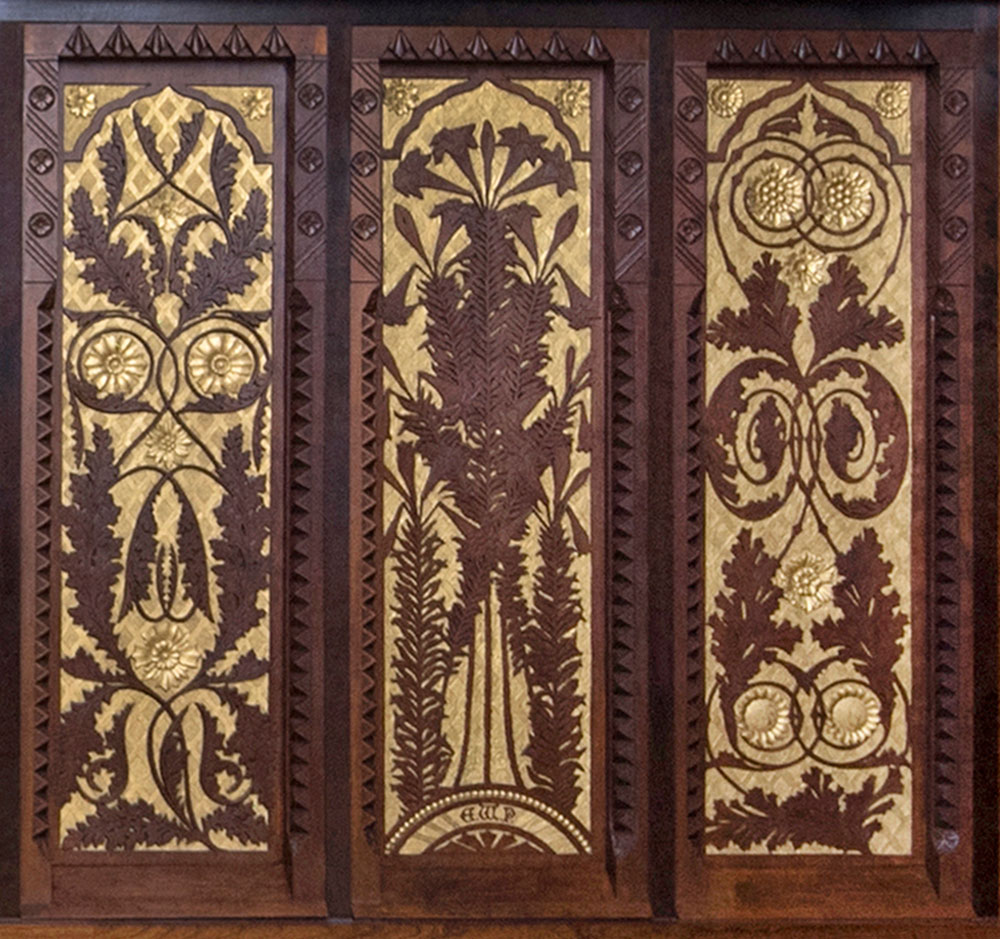 Three of the panels in the display