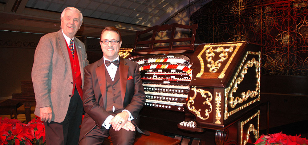 Don Siekmann with Ken Double at the 2011 Happy Holidays with the Mighty Wurlitzer concert