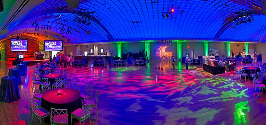 Music Hall Ballroom decorated for the 2018 Wake the Dead Bash