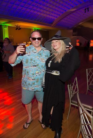 Wake the Dead Bash 2018 SPMH Event Chair Holly Brians Ragusa with Damon Ragusa