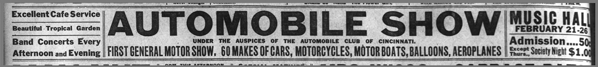 Auto Show ad for 1911 event