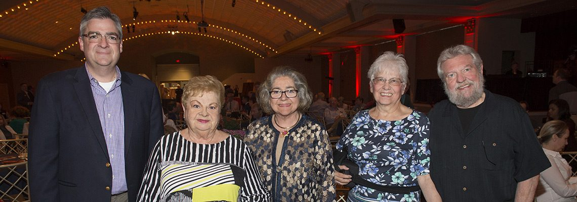 Brian Siekmann; Carol Beddie; Linda Siekmann, Friends of Music Hall Advisory Council; Mary Coyne, FMH Office Administrator; Tim Coyne
