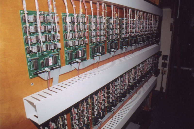 The Uniflex Relay in Solo Chamber. It required three weeks for Ron to wire the several thousand electrical connections.