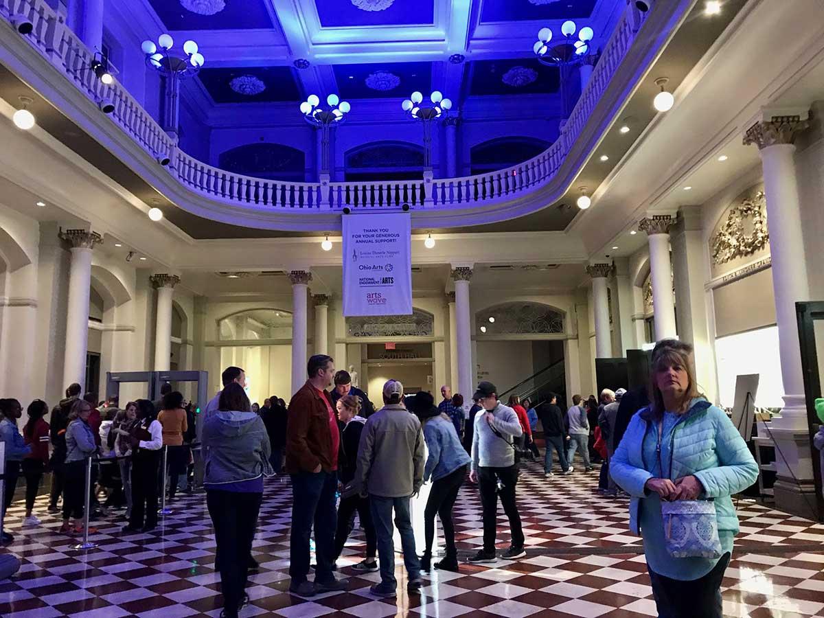 The foyer of Cincinnati Music Hall during BLINK 2019