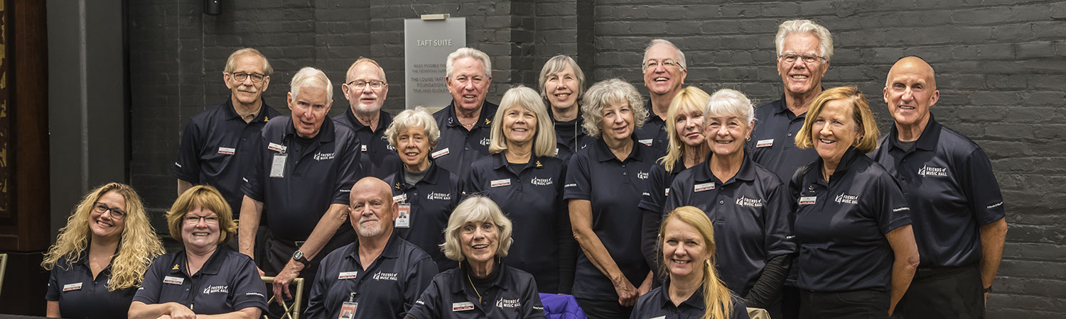 Friends of Music Hall Program Guides at a Tour & Education Programs meeting in October 2019