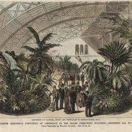 Sketch of the Horticultural (south) wing of Music Hall in 1879