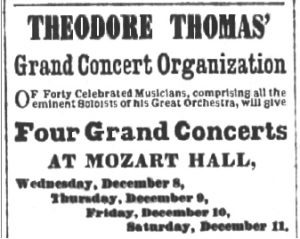 Ad - Theodore Thomas' Grand Concert Organization at Mozart Hall