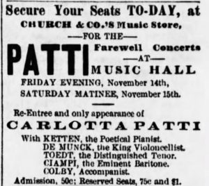 1879 Ad from the Cincinnati Daily Star