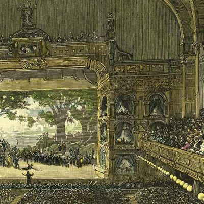 1883 Opera Festival Lohengren Illustration by H.F. Farny for Harpers Weekly
